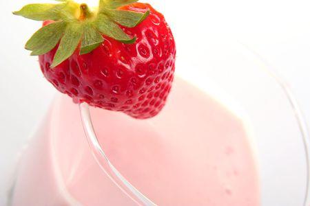 delicious strawberry milkshake Stock Photo - 6242042