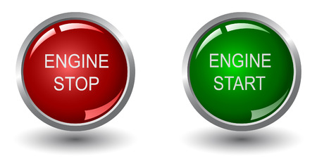 Engine stop and start web buttons Stock Vector - 6242045