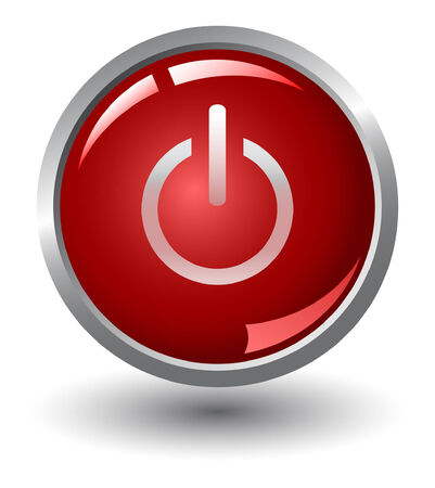 Glanzende rode knop Vector Illustratie