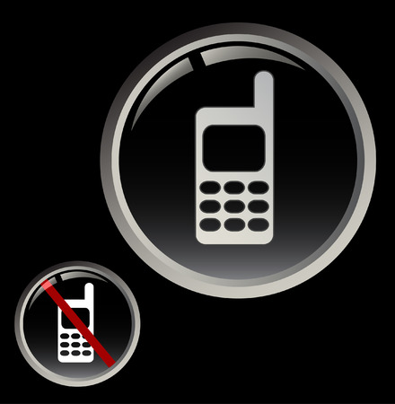 Cell phone button and forbidden calling sign Vector
