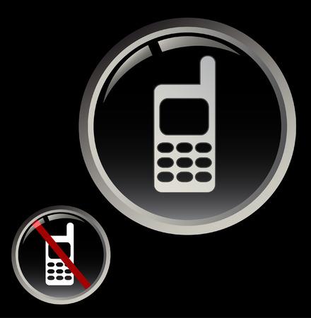 phone button: GSM-knop en verboden aanroep teken