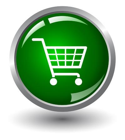 shopping basket:  Shopping basket button. Internet Shopping