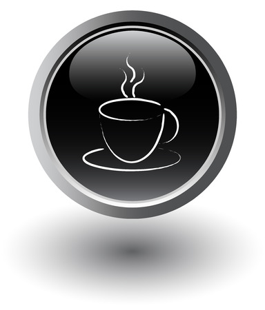 black coffee icon Vector
