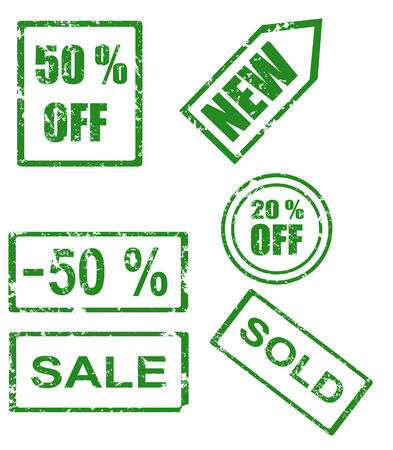 Rubber stamp series - sales  Stock Vector - 6967090