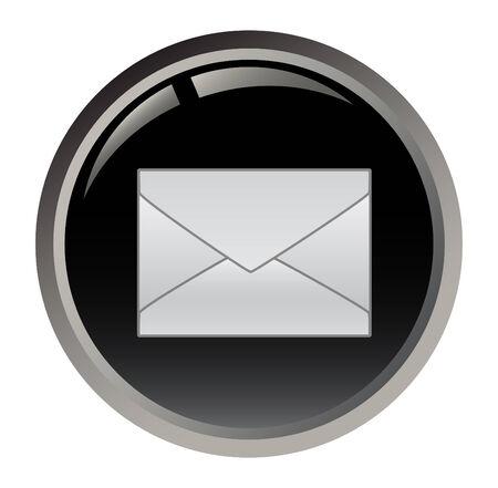 Black e-mail button Vector