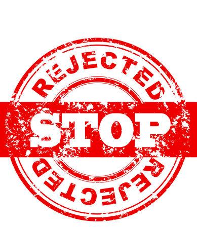 illustratie van een stop teken, rood grungy stempel