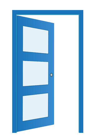 moder: Door opened , classic design with lock,