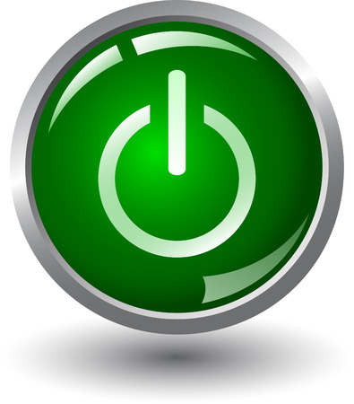 Start - macht op - web knop, Vector Illustratie