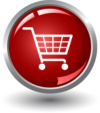 internet shopping: Shopping basket button. Internet Shopping Illustration