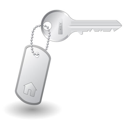 Key to own home, isolated on white background Stock Vector - 8154968