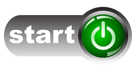run off: Green start button,