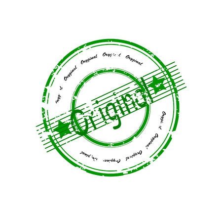 Abstract green rubber stamp Original with word original written inside the stamp Stock Vector - 8154992
