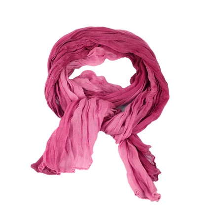 silk tie:  Pink cotton scarf isolated on a background