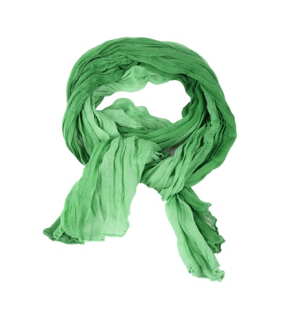 green cotton scarf isolated on a background photo