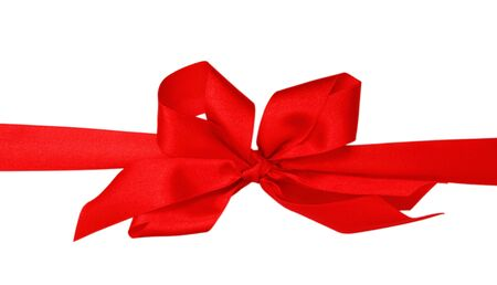 Big red bow isolated on white background photo