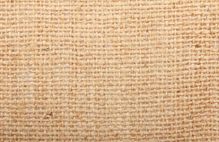 Natural linen striped textured sacking burlap background photo