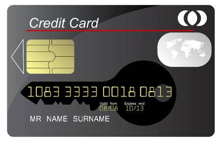 Black credit card Stock Vector - 9045096