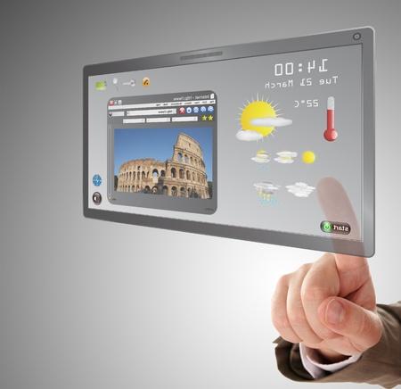 rechercher une information sur tablette tactile