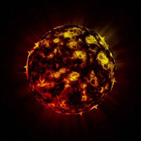 Planeta alienígena de fuego  Foto de archivo