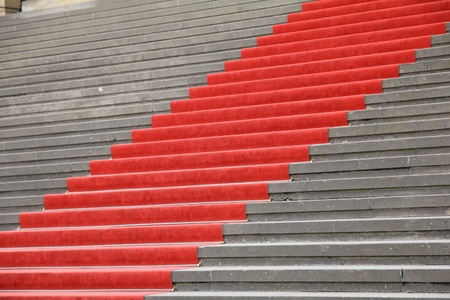 Red carpet on stairs  photo