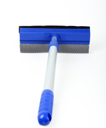 mop for cleaning windows on a white background photo