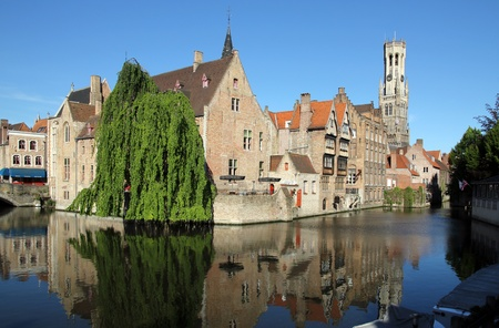 Most common view of medieval Bruges photo
