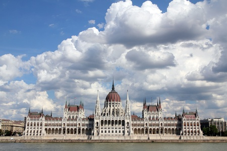 The Hungarian Parliament Building, in front  photo