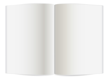 Blank pages inside of note book or journal Vector
