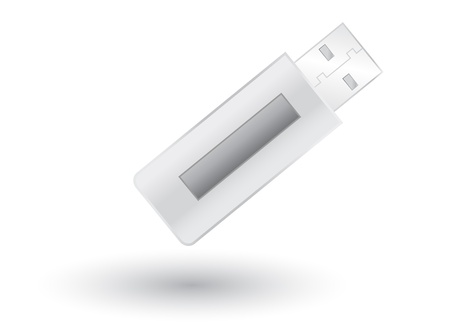 microdrive: USB Pendrive with shadow on white background, vector illustration