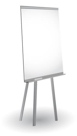 Empty flip chart , vector Illustration