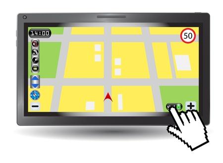 satellite navigation: Smartphone con sistema de navegaci�n