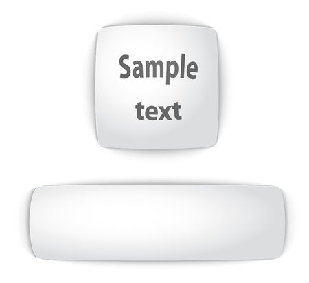rectangle button: Sample blank convex web buttons. Vector illustration.