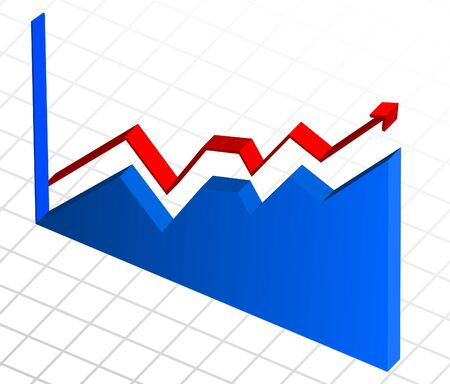 increase diagram: Vector, business profit growth graph chart  Illustration