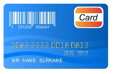 Blue credit card vector, highly detailed, vector Stock Vector - 11030679