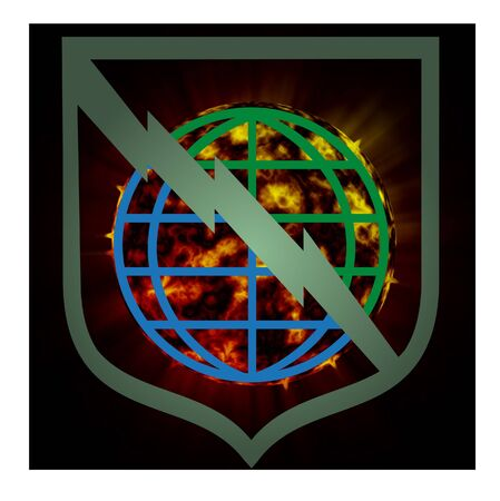 Planet Explosion - Earth Apocalypse, sign photo