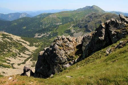Summer mountain landscape, National park Low Tatras, Slovakia, Chopok photo