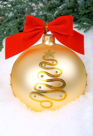 Big golden xmas bauble  photo
