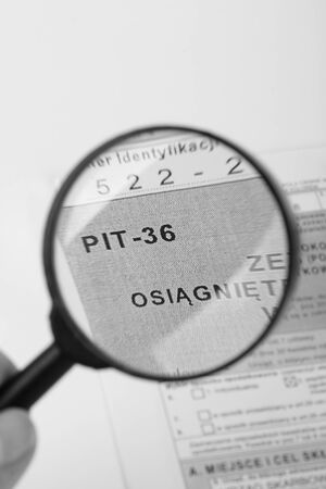 taxable: Filling in polish individual tax form PIT-36