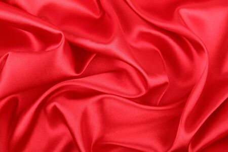 Smooth elegant red silk background Stock Photo - 11843973