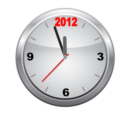 Clock to 2012 New Year  Vector
