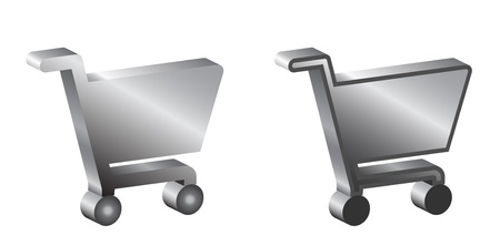 shopping cart icon:  shopping baskets sign, 3d Illustration