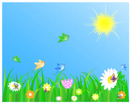 Fresh summer meadow Vector