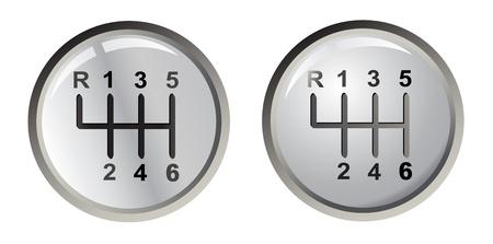 Twee versnelling zilveren stokken, vector