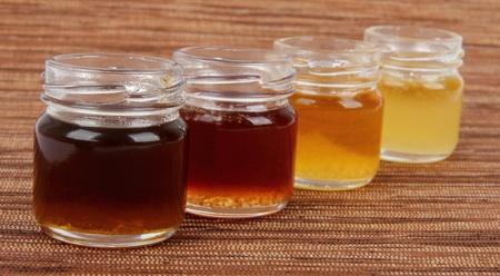 honeydew:  jars full of honey , mix taste Stock Photo