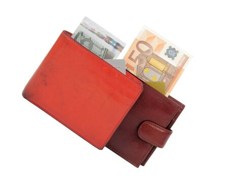 two wallets, poor and rich photo