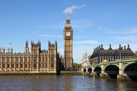 Westminster Bridge with Big Ben in London photo