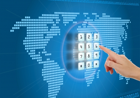 lösenord: Begreppet säkerhet och skydd på Internet Stockfoto