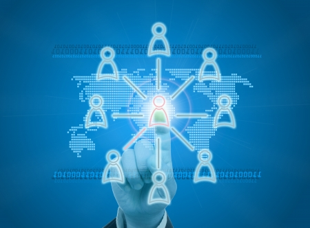 Managing organization or social network in digital age Stock Photo - 13871948
