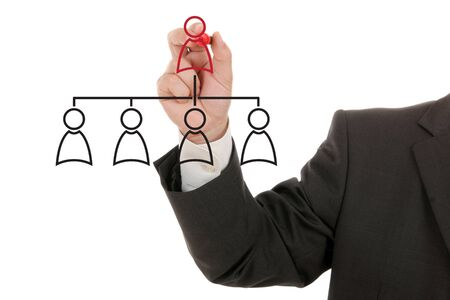 the managing: Managing organization or social network Stock Photo