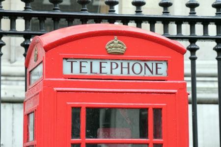 London red telephone box photo